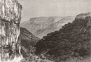 MAHABALESHWAR. Ghats, opp. Elphinstone Point c1885 old antique print picture